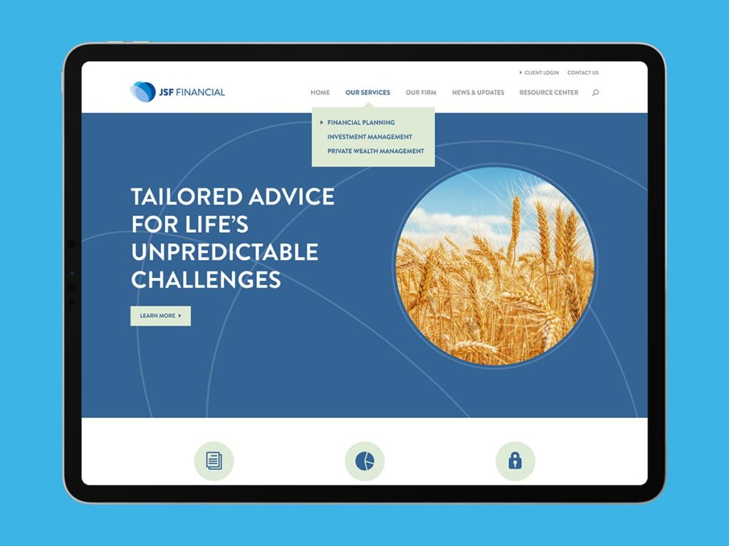 Jsf financial website home