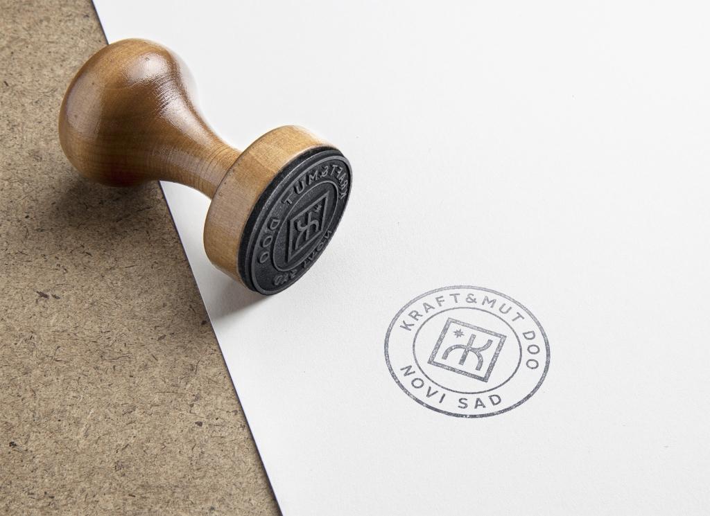 Kraft mut rubber stamp