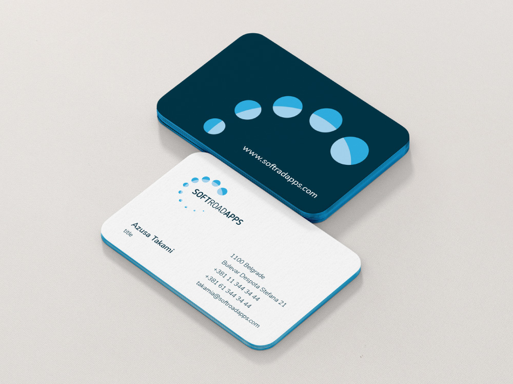 Soft road apps business cards