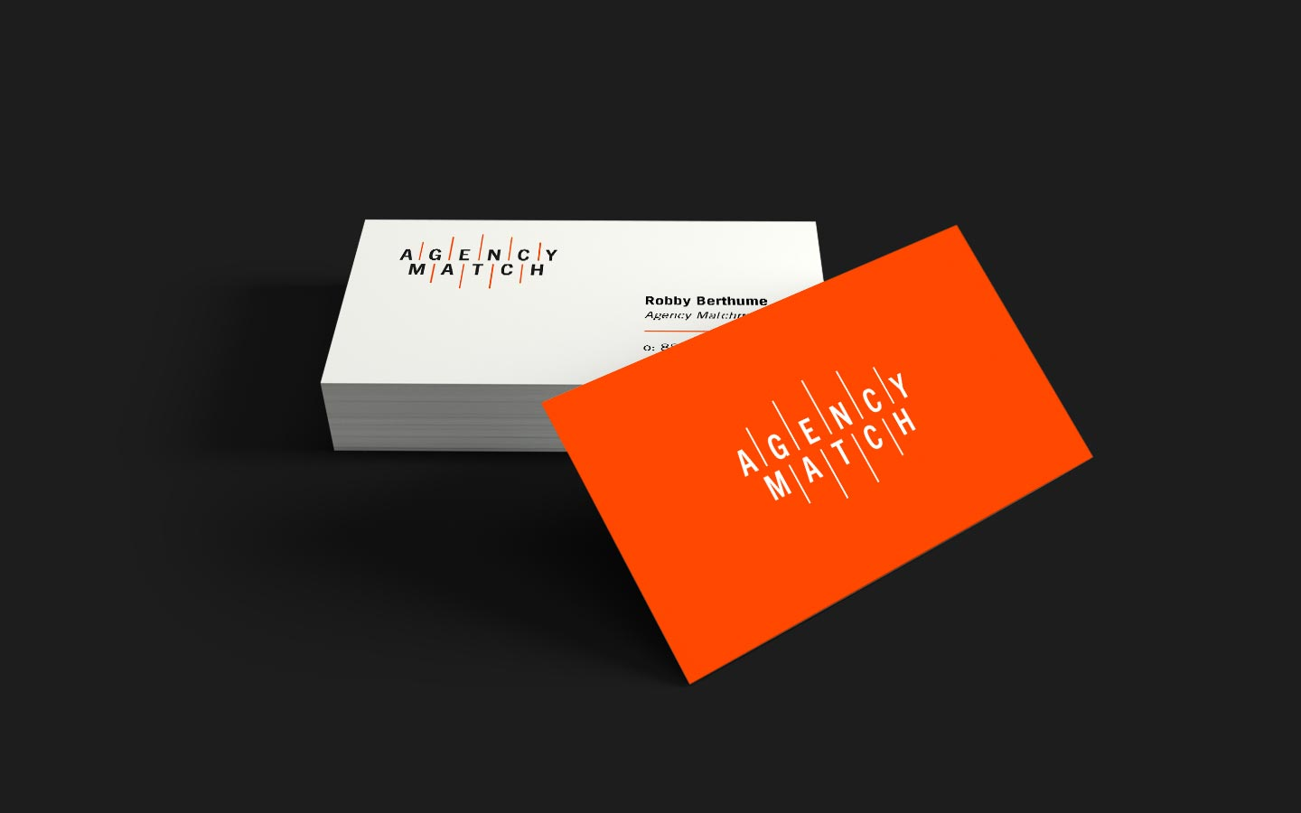 Agency match business cards2