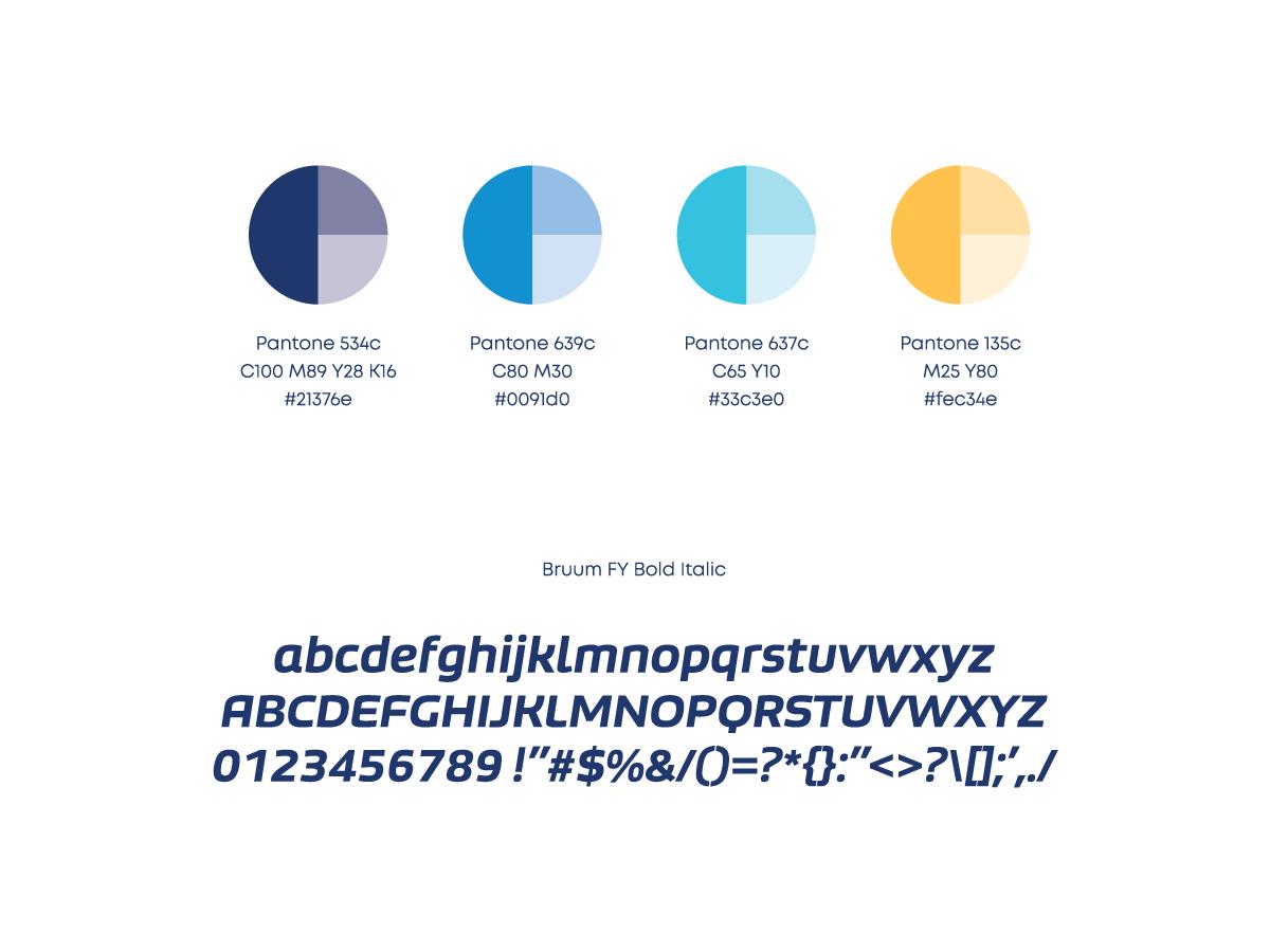 Agilno colors typography