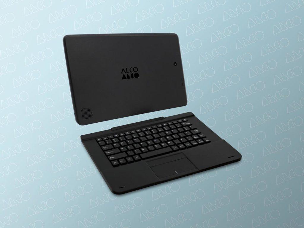 Alco rebranding case study engraved logo on tablet