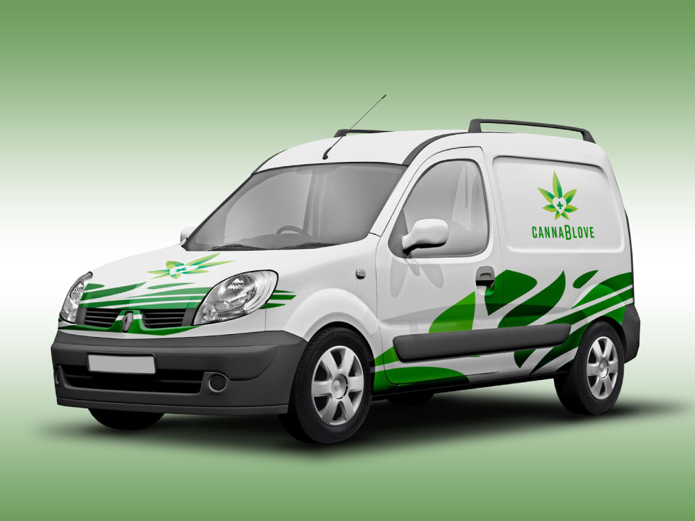 Cannablove car wrap