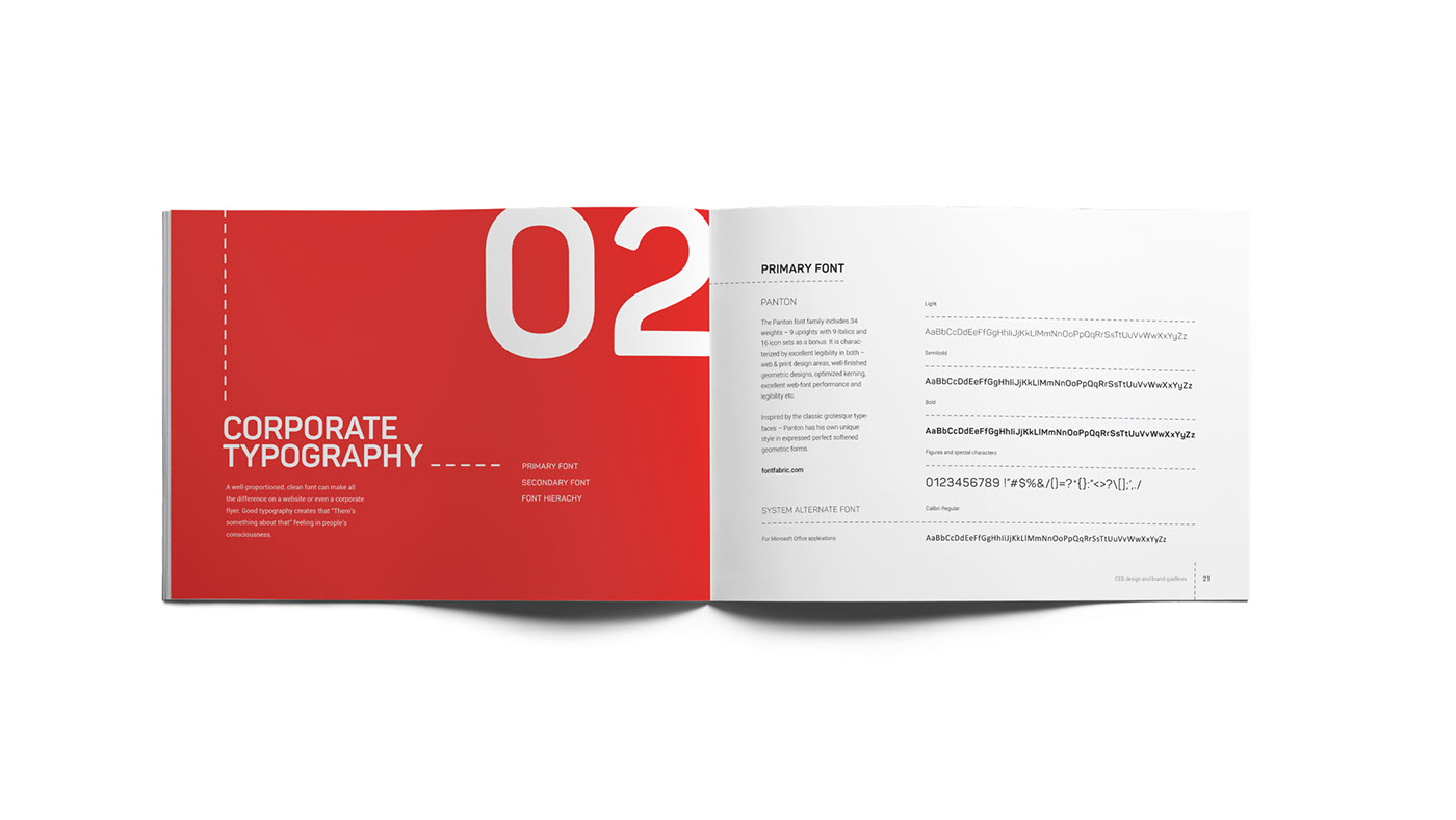 Ceb brand manual typography