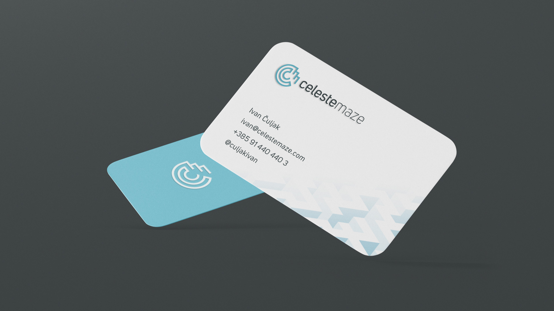 Celeste maze business cards