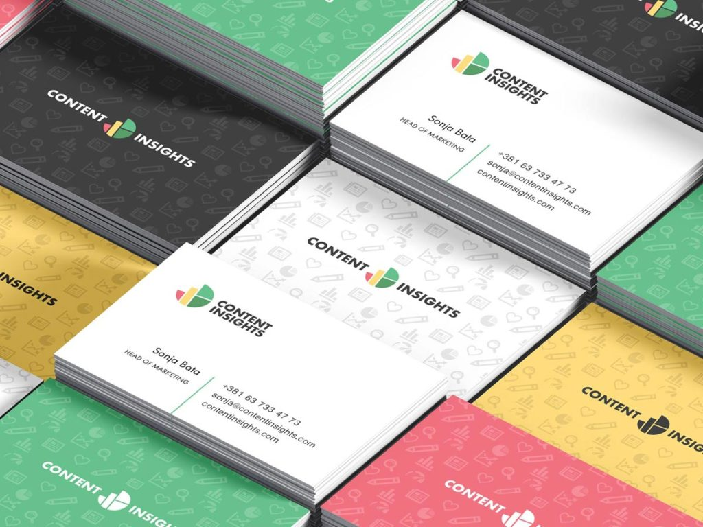 Content insights business cards