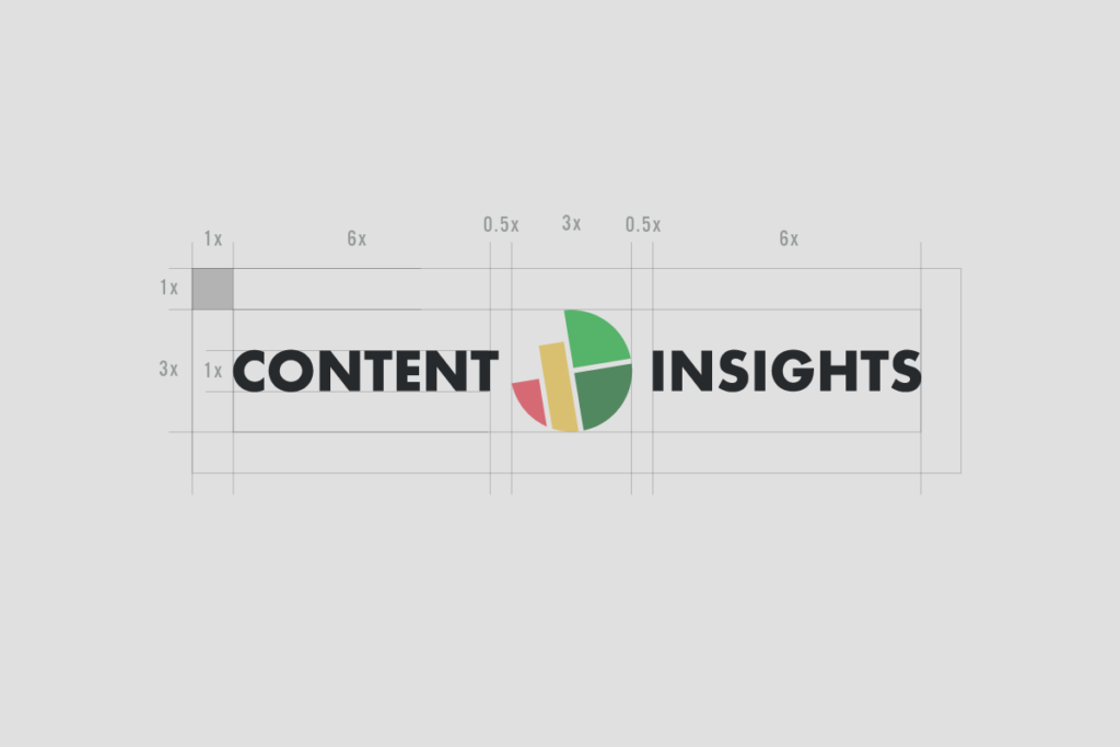 Content insights horizontal logo construction