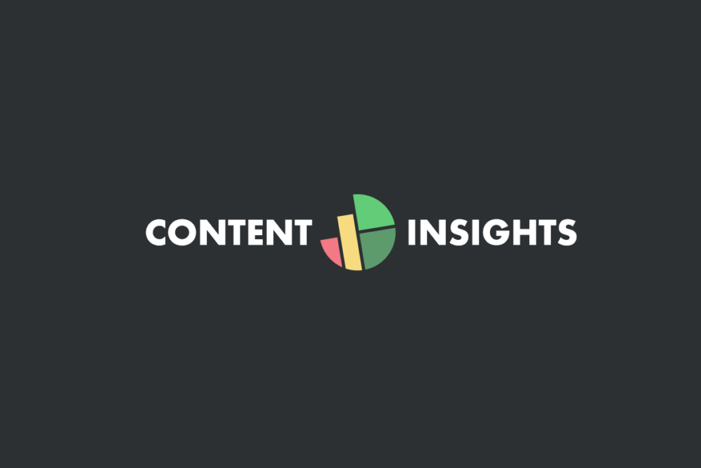 Content insights horizontal logo inverted colors
