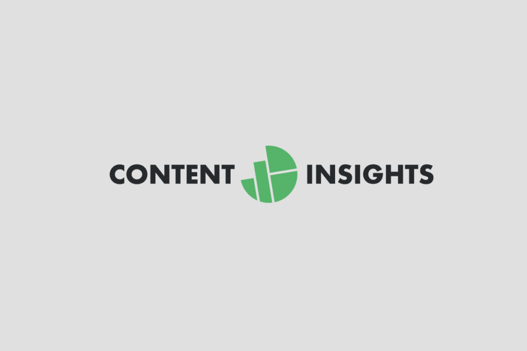 Content insights horizontal logo two colors