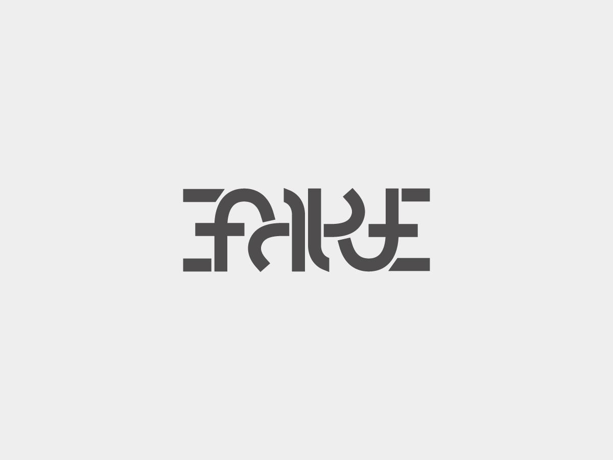 Fake ambigram