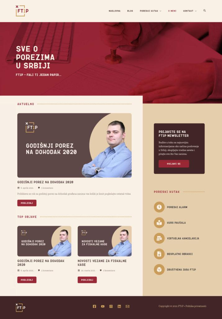 Ft1p website homepage