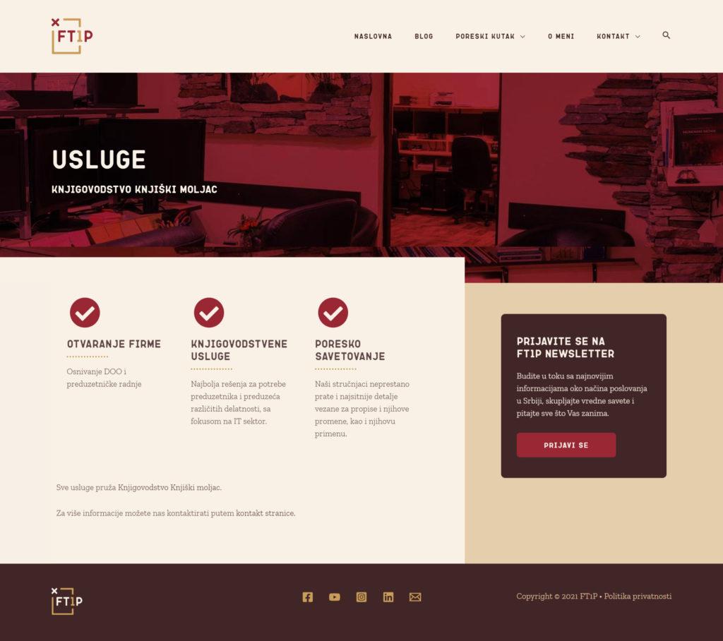 Ft1p website usluge