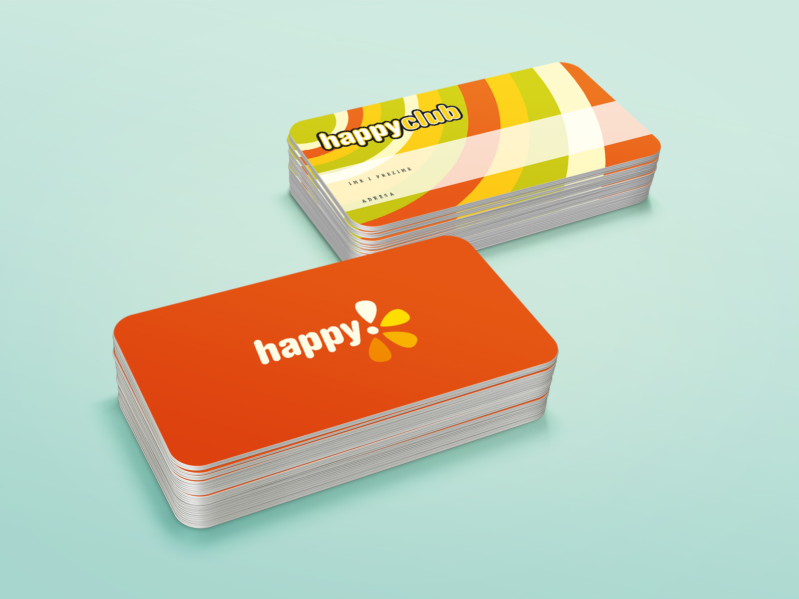 Happy tv studio card