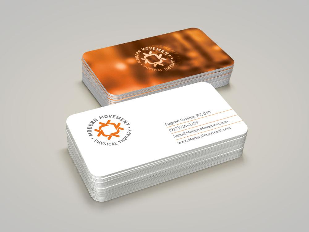 Modern movement business card