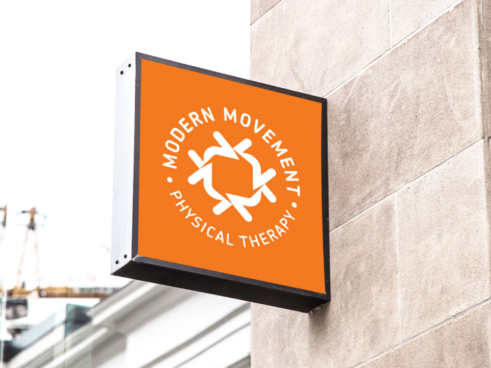 Modern Movement outdoor sign