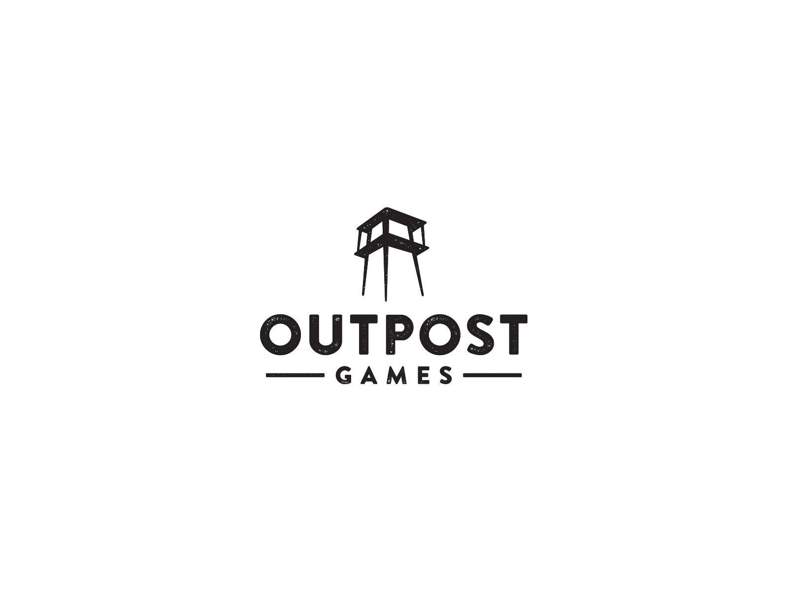 Outpost games logo design bw1