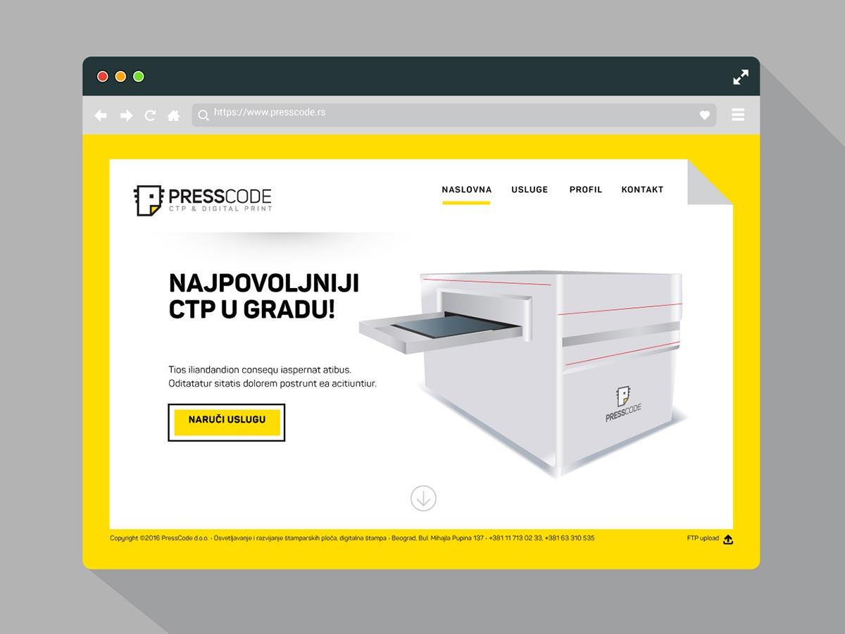Presscode website
