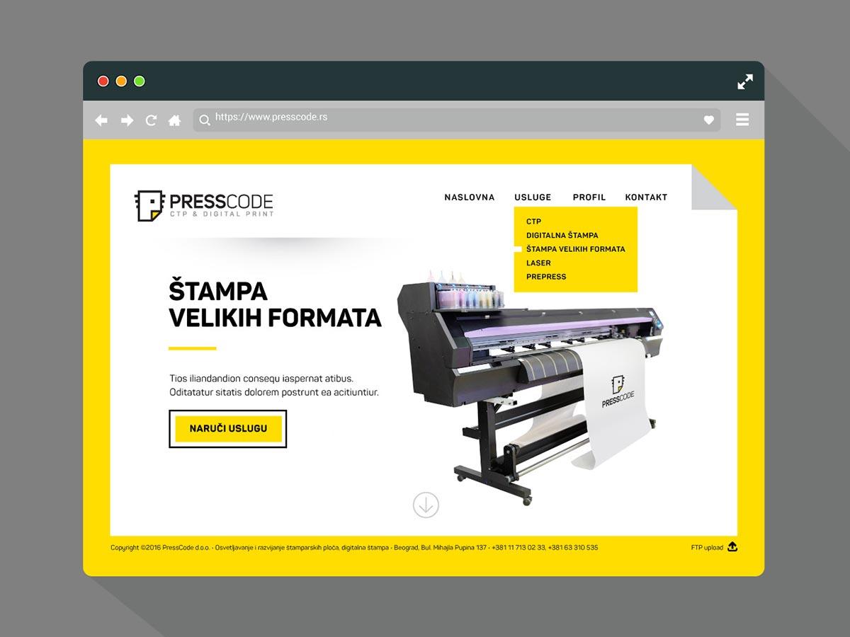 Presscode website2