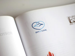 Sky of love published logo design