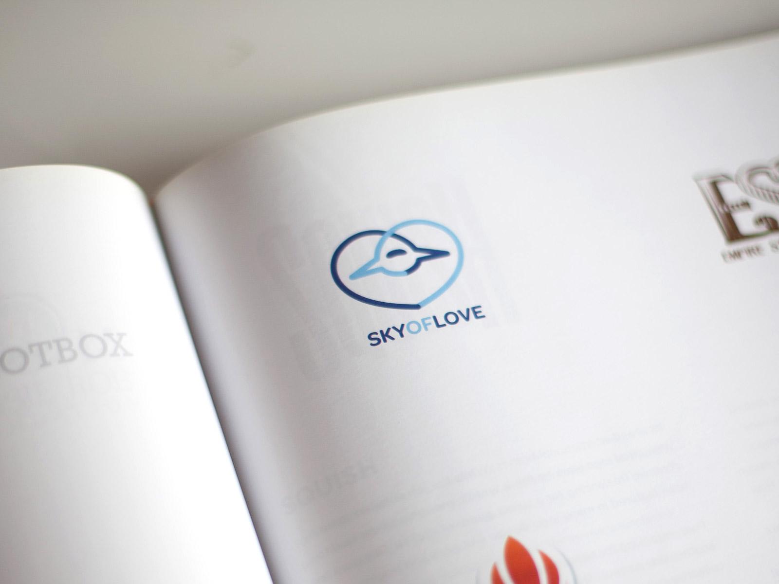 Sky of love published logo design