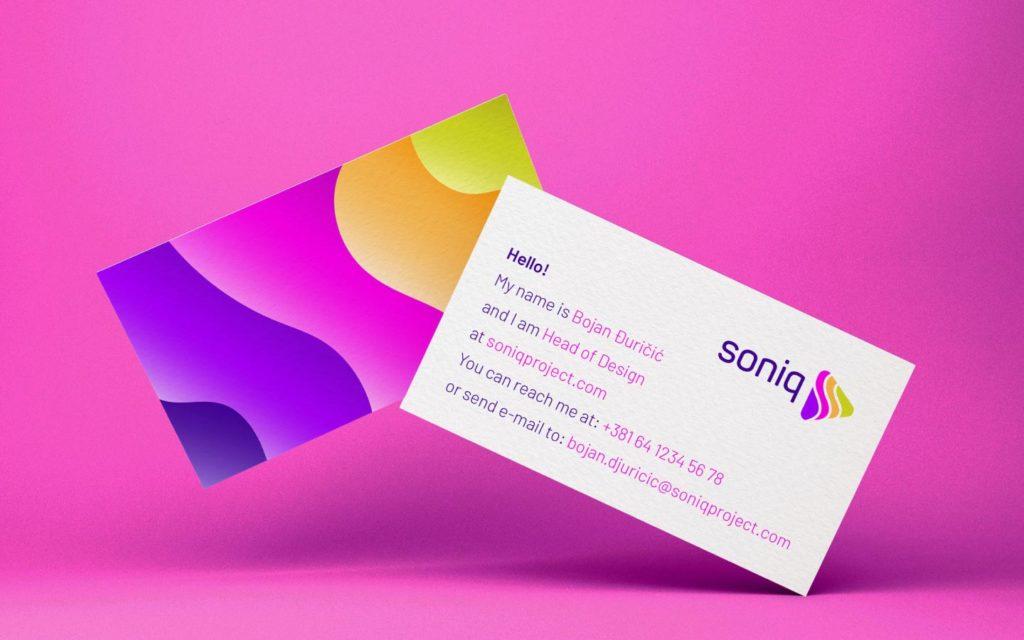Soniq business cards