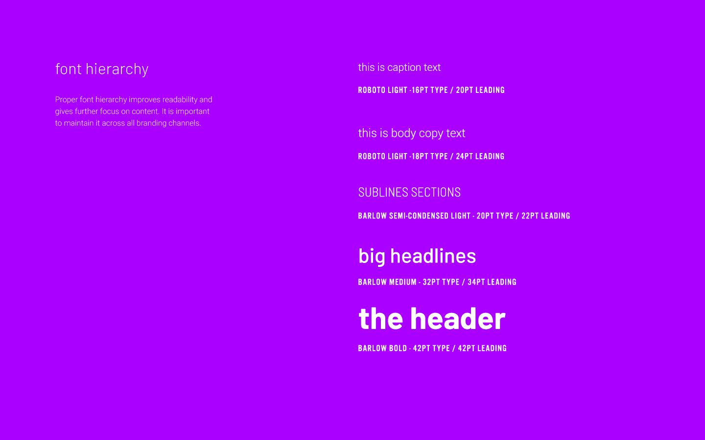 Soniq typography4