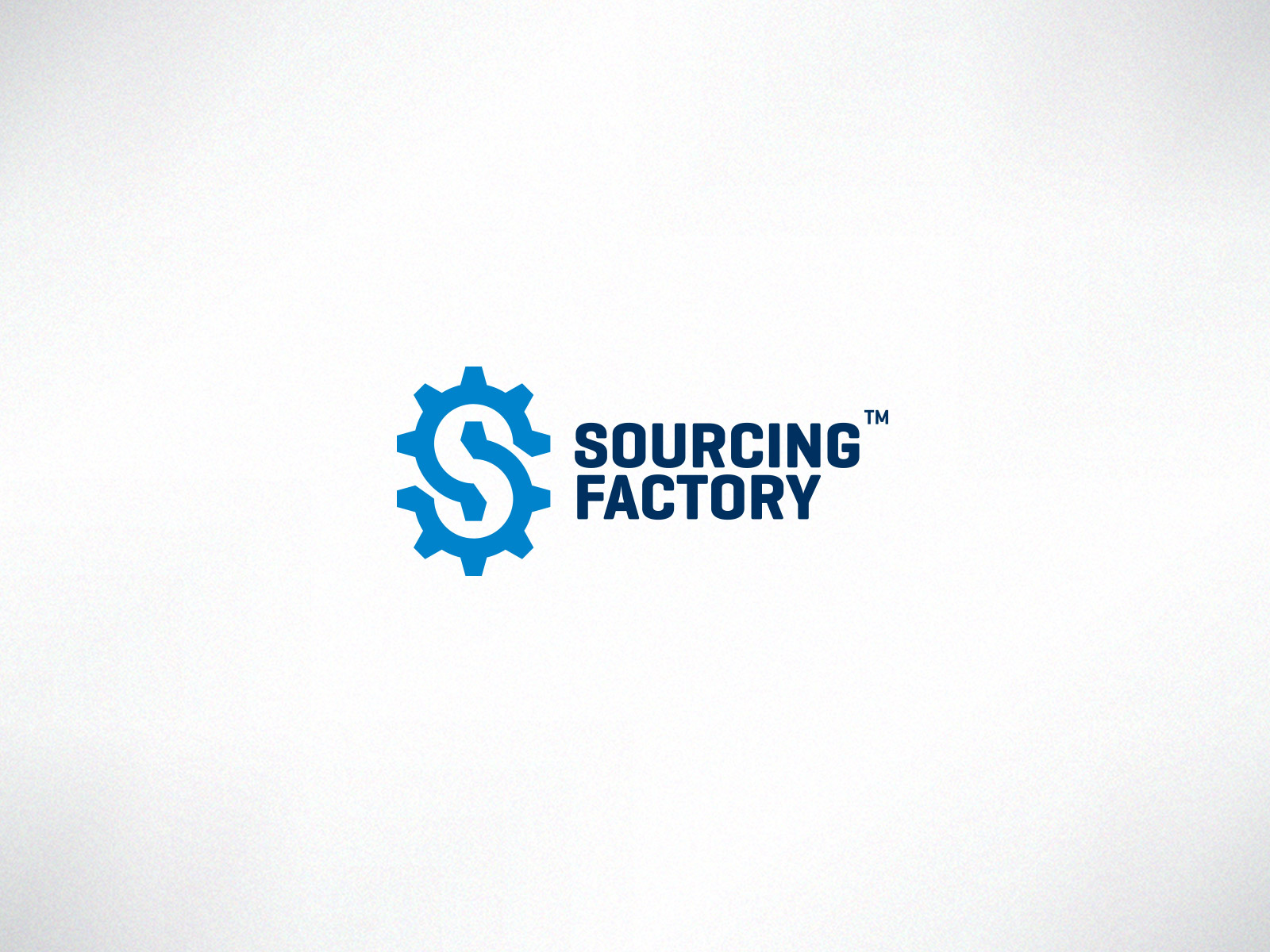 Sourcing factory logo design flat colors
