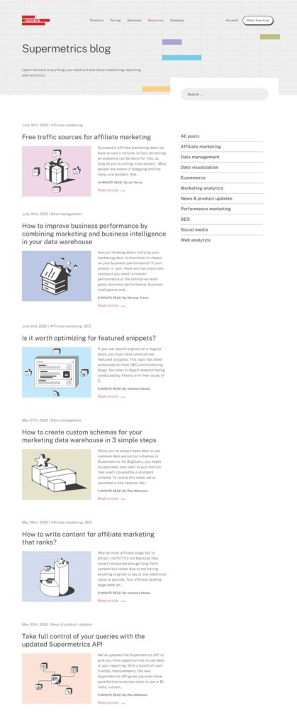 Supermetrics web blog