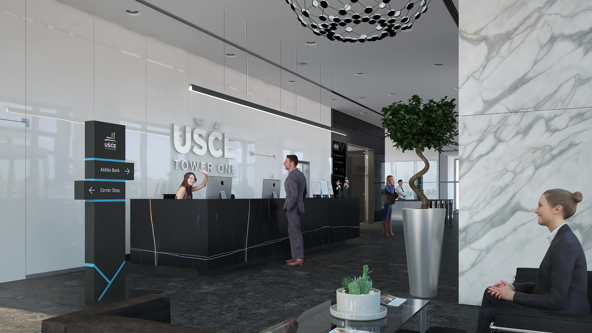 Usce tower one lobby2